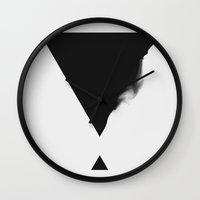 triangle Wall Clocks featuring Triangle by SUBLIMENATION