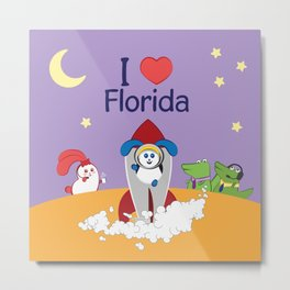Ernest and Coraline | I love Florida Metal Print