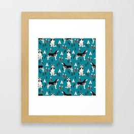 Husky siberian huskies mountains pet portrait dog dogs pet friendly dog breeds gifts Framed Art Print