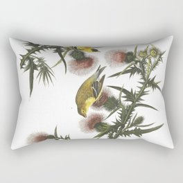 Goldfinch And Thistle Rectangular Pillow
