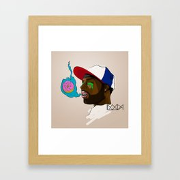 D is for Donuts Framed Art Print