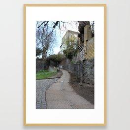 Up Regents Canal in Angel Framed Art Print