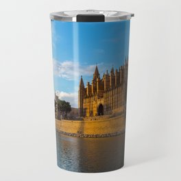 Day to night on Cathedral of Palma de Mallorca Travel Mug