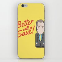 better call saul iPhone & iPod Skins featuring Better Call Saul by Big Purple Glasses