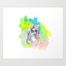 Sunday Girl Art Print