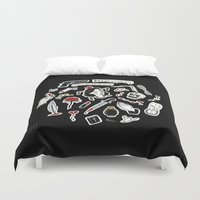 venom Duvet Covers featuring Thank You For The Venom by Victoria Gino