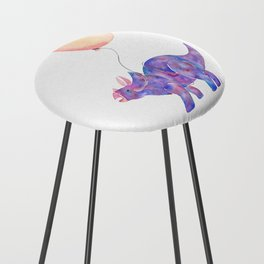 Tie-dye Triceratops Counter Stool