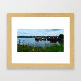 Fisherman's Wharf in Cape Breton Framed Art Print