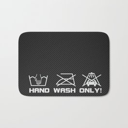 Hand wash only Bath Mat