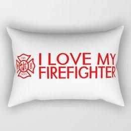 Firefighter: I Love My Firefighter (Florian Cross) Rectangular Pillow
