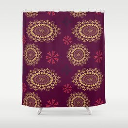 amulet mandala Shower Curtain