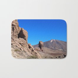mountain and rock formations tenerife Bath Mat