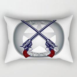 US Marshal Guns and Badge Rectangular Pillow