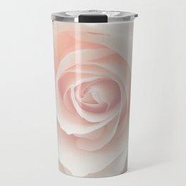 Blush Pink Rose Travel Mug