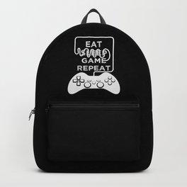 Eat Sleep Game Repeat Backpack