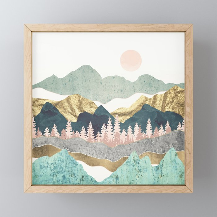 Summer Vista Framed Mini Art Print