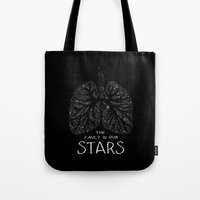 the fault in our stars Tote Bags featuring The Fault in Our Stars by Call me Calliope