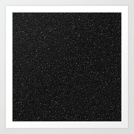 Black Leather Effect Art Print