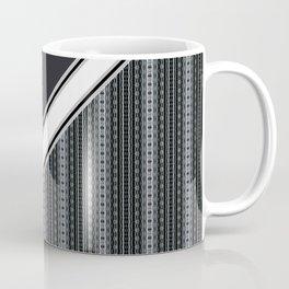 Antique Black and White Lace Coffee Mug