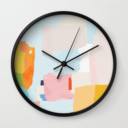 solving world hunger with pretty shapes Wall Clock