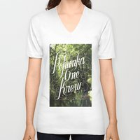 jungle V-neck T-shirts featuring jungle by Geronimo Studio
