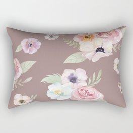 Floral I - Cocoa Rectangular Pillow