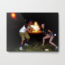 Bomb Fire Celebration Metal Print