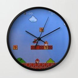 Mario Likes A Mushroom Wall Clock
