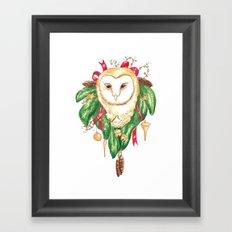 Winter Woodland Magic Owl Framed Art Print