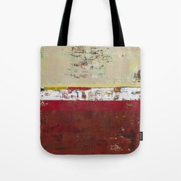 Buffalo Indian Red Burgundy Modern Abstract Art Tote Bag