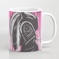 daft punk Mugs featuring Daft Punk by Ren Davis