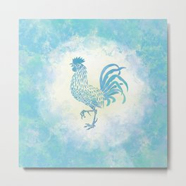 Farmhouse Rooster Metal Print