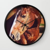frank Wall Clocks featuring Frank by Images by Nicole Simmons