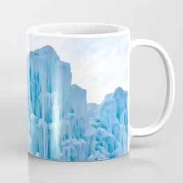 Painting of a Beautiful and Elaborate Frozen Ice Castle With Sun Shining from Behind, Edmonton AB Coffee Mug