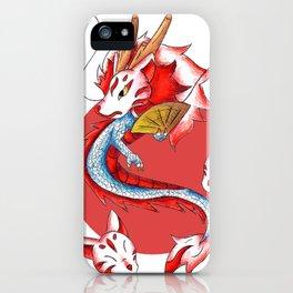 Dragon in the Kitsune Mask iPhone Case