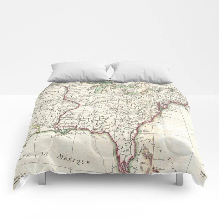 Thirteen Colonies Vintage Map (1776) Comforters