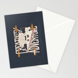 Creativity is an Adventure Stationery Cards
