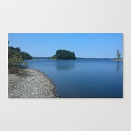 Lakeside views Canvas Print