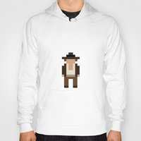 indiana Hoodies featuring Indiana Jones by Pixel Icons