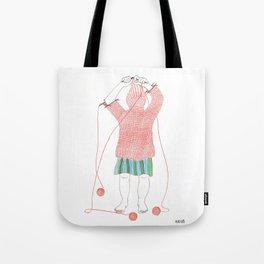 Knitster Girl Turtleneck Tote Bag