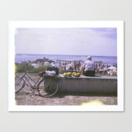 Old Man and his Bicycle Canvas Print