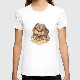 Ron Swanson Cat T-shirt