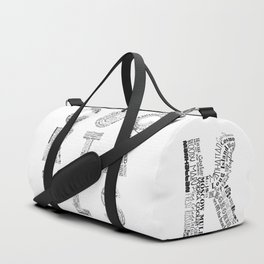 Cocktails Tag Cloud Duffle Bag