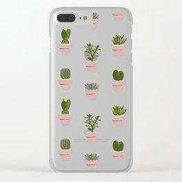 Cacti & Succulents Clear iPhone Case