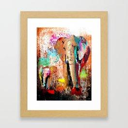 African Elephant Family Painting Framed Art Print