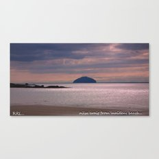 the ailsa craig ,scotland Canvas Print