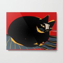 The confident cat Metal Print