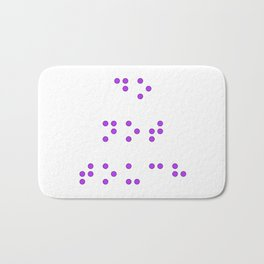 Do Not Touch in Braille in Purple Bath Mat