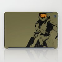 master chief iPad Cases featuring Master Chief Redux by Anthony Bellus