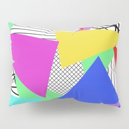 Bits And Pieces - Retro, random, abstract pattern Pillow Sham